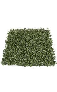 "20"" Plastic Outdoor Boxwood Mat - 3"" Height - Tutone Green Leaves - FIRE RETARDANT"