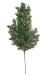 "27"" Plastic Hemlock Branch - 43 Tips - 8"" Stem - Green"