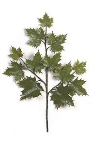 "30"" Outdoor Sugar Maple Branch - 12 Leaves - Green"