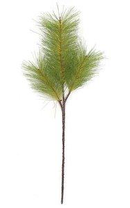 "40"" PVC Pine Branch - Light Green - FIRE RETARDANT"