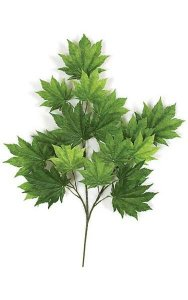 "29"" Full Moon Maple Branch - 18 Leaves - Green"