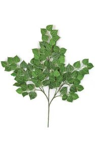 "27"" Cottonwood Branch - 90 Leaves - Green"