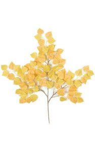 "27"" Cottonwood Branch - 90 Leaves - Yellow"