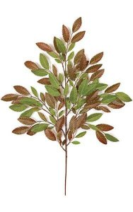 "28"" Young Chestnut Branch - 111 Leaves - Green/Red"