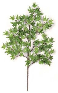 "25"" Mini Japanese Maple Branch - 106 Leaves - Green-sold by dozen"