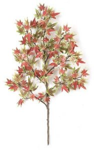 "25"" Mini Japanese Maple Branch - 106 Leaves - Green/Red"