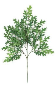 "27"" Small Pin Oak Branch - 81 Leaves - Green"