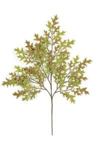 "27"" Small Pin Oak Branch - 81 Leaves - Green/Brown"