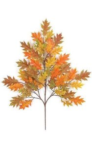 "29"" Pin Oak Branch - 54 Leaves - Orange"