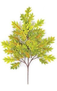 "29"" Pin Oak Branch - 54 Leaves - Light Green/Yellow"
