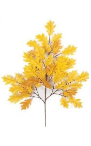 "29"" Pin Oak Branch - 54 Leaves - Gold"