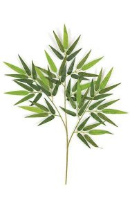 "26"" Bamboo Branch - 60 Leaves - Green"