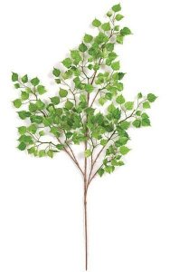 "32"" Mini Birch Branch - 183 Leaves - Green"