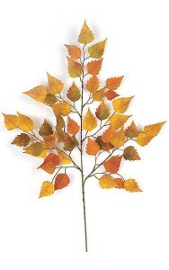 "26"" Birch Branch - 50 Autumn Leaves - 18"" Width"