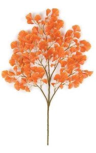 "25"" Mini Gingko Branch - 140 Orange Leaves"