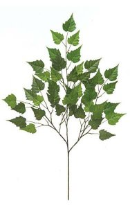 "28"" Birch Branch - 46 Leaves - Green"