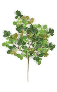 "20"" Small Lime Branch - 153 Leaves - Green with Red Accents  (sold by dozen)"