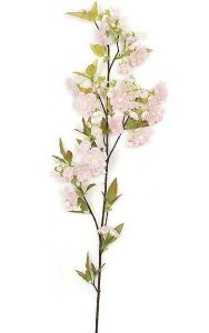 "36"" Cherry Blossom Branch - 53 Leaves - 49 Flowers - 22 Buds - Pink"