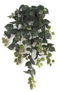 "36"" Hanging Bougainvillea Bush - 174 Leaves -19"" Width - Green"