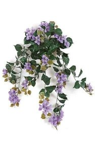"36"" Artificial Bougainvillea Bush- 18 Flower Clusters - 19"" Width - Purple"