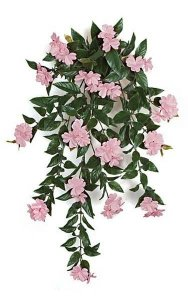 "30"" Impatiens Bush - 16 Pink Flowers Clusters - 4"" Stem"