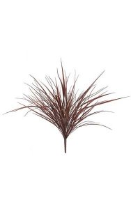 "36"" Plastic Grass Bush - 123 Leaves - Burgundy with Green Edge"