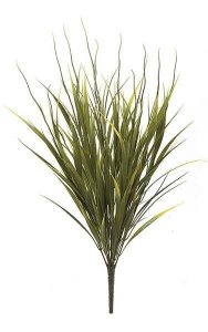"21"" Plastic Sword Grass Bush - Yellow/Green"