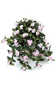"27"" Impatiens Bush - 417 Leaves - 62 Flowers - 5 Buds - Pink"