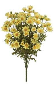 "23"" Daisy Bush - 194 Leaves - 69 Flowers - Yellow - Bare Stem"