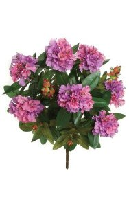 "27"" Rhododendron Bush - 181 Leaves - 77 Flowers - 5 Buds - Lavender"
