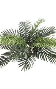 "Areca Palm Bush - 13 Fronds - 26"" Width - Green - Bare Stem"