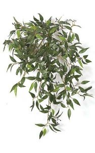 "30"" Hanging Smilax Bush - 355 Green Leaves - 18"" Width"