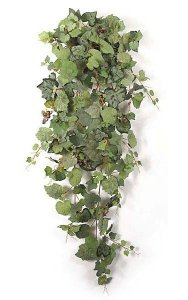 "52"" Frosted Grape Bush - 322 Mixed Green Leaves - 81 Mauve/Yellow Berries - 20"" Width"