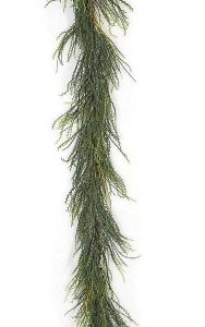 6' Weed Twig Garland - Tutone Green Tips