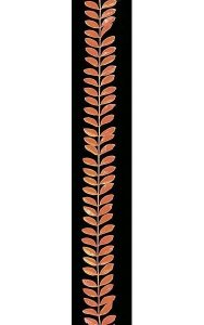 9' Plastic Prunus Garland - Yellow/Orange