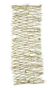 "36"" x 12"" Natural Twig Garland - 43 Mini Green Leaves"