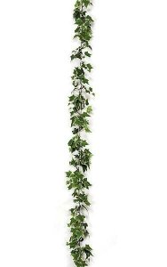 9' Holland Ivy Garland - 577 Leaves - Variegated Green