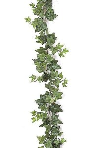 9' Ivy Garland - 186 Leaves - Green