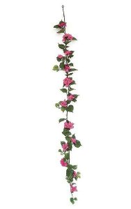 6' Bougainvillea Garland - 90 Leaves - 61 Flowers - Beauty