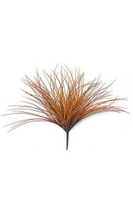 "19"" Plastic Onion Grass - Rust/Brown"