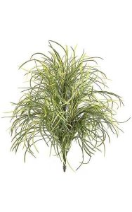 "24"" Plastic Angel Hair Grass Bush - Green/Yellow Leaves - Bare Stem"