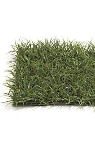 "10"" Plastic Oriental Grass Mat - 500 Leaves - 2"" Height - Green"