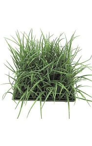 "10"" Plastic Wild Grass - 500 Leaves - 8"" Height - Tutone Green"