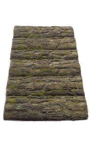 "35"" x 15"" Plastic Log Mat - Brown"