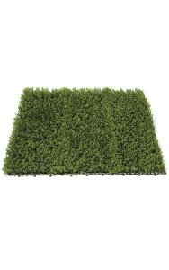 "40"" Plastic Button Fern Greenery Mat - 2,637 Green Leaves - 3"" Height - Green"