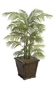 4' Areca Palm - Synthetic Trunks - Green - Weighted Base