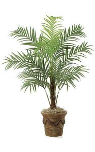 7' Areca Palm - Synthetic Trunk - 12 Fronds - Bare Trunk