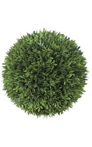"10"" Plastic Podocarpus Ball - 324 Green Leaves"