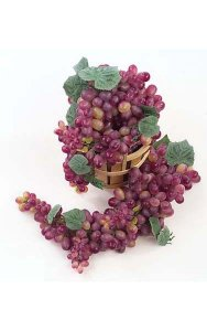"Plastic Grape Cluster - 200 Grapes - 20"" Length - Wine/Muscat"