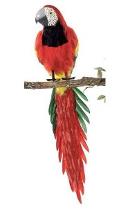 "46"" Macaw - Tutone Grey Beak - Red Head - Multi"